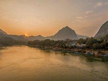 Nam Ou River with Pak Ou Cave