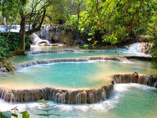 Luang Prabang – Kuang Si Waterfalls (B, L)