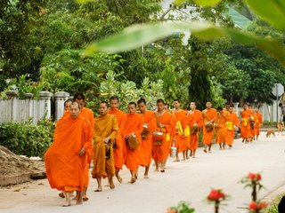 Vientiane Monks and Charities